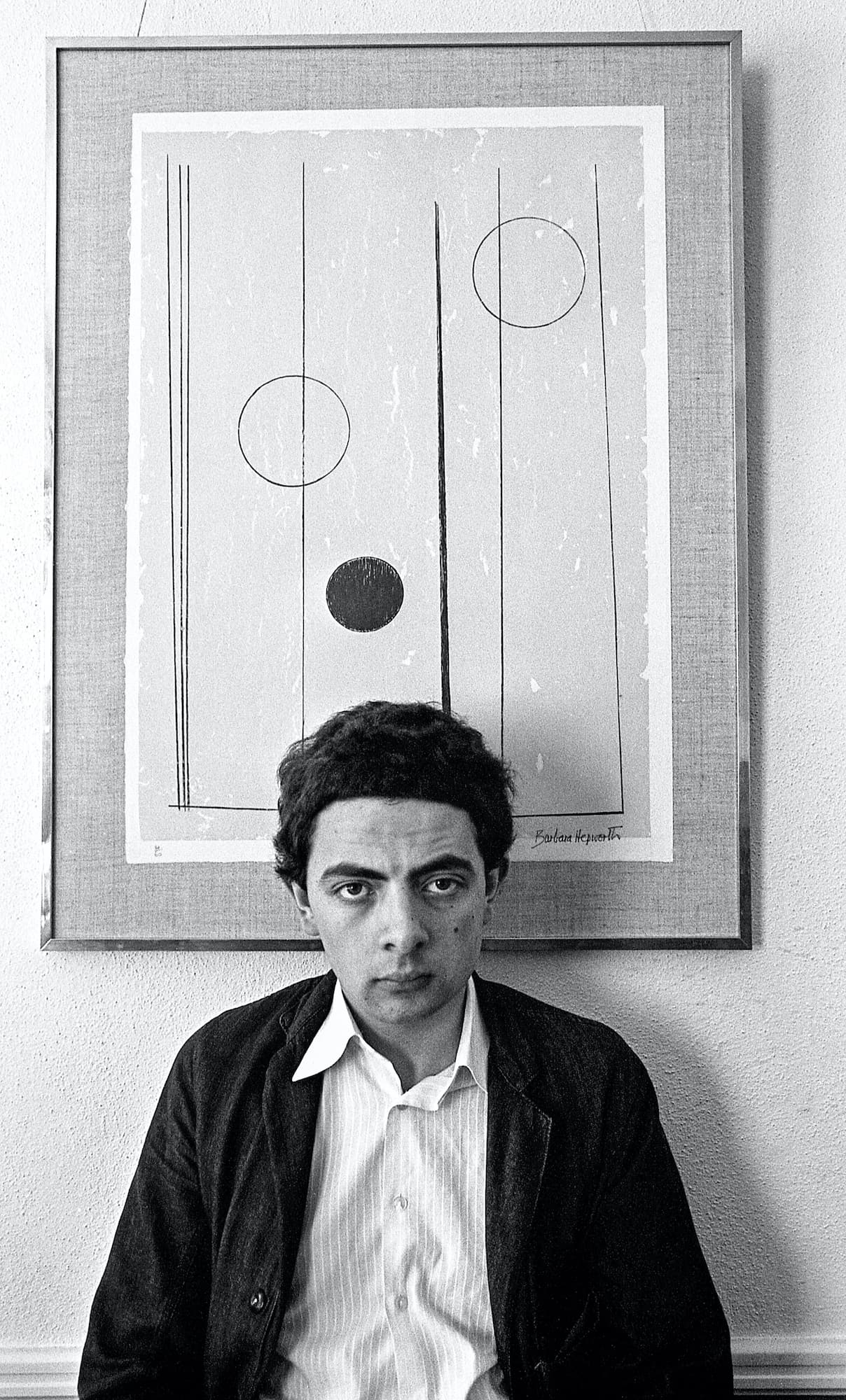 Rowan Atkinson portrait while at Oxford University