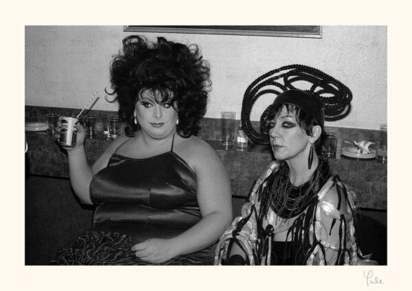 Divine and Molly Parkin at the premiere of The Alternative Miss World