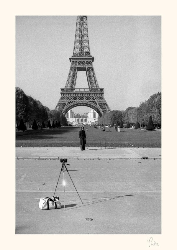 Eiffel Tower with Japanese tourist